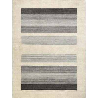 Burk Blend Ivory/Gray Area Rug Rug Size: 5 x 8