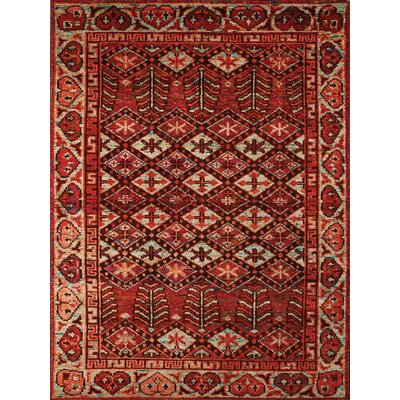Silkshine Hand-Knotted Silk Rust/Ivory Area Rug Rug Size: Rectangle 2 x 3