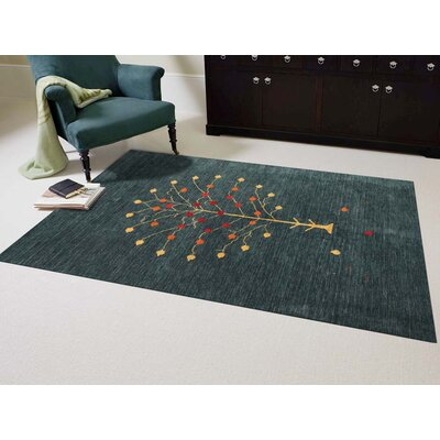 Pressley Dark Green Area Rug Rug Size: 2 x 3