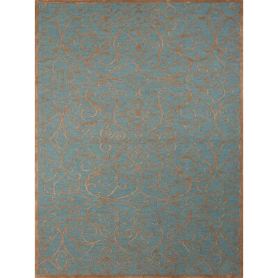 Glow Forest Blue Area Rug Rug Size: 76 x 96