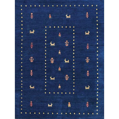 Pressley Navy Blue Area Rug Rug Size: 5 x 8