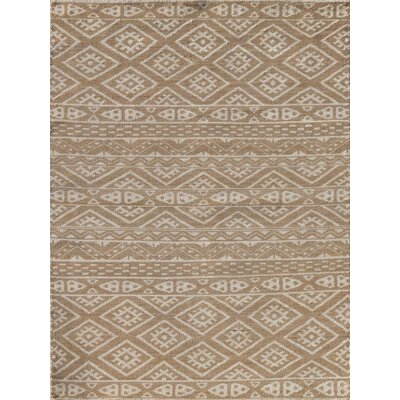 Feza Hand-Knotted Camel Area Rug Rug Size: 4 x 6