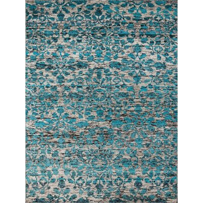 Melodie White & Aqua Area Rug Rug Size: 2 x 3
