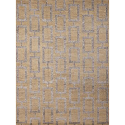 Defino Gold Area Rug Rug Size: 76 x 96