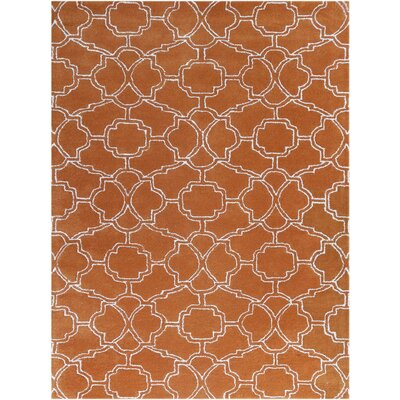 City Hand-Tufted Orange Area Rug Rug Size: 5 x 8