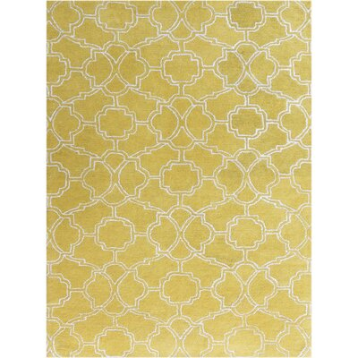 City Hand-Tufted Yellow Area Rug Rug Size: 2 x 3