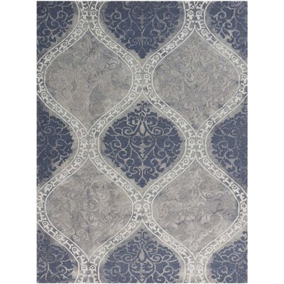 Pavilion Hand-Tufted Gray/Blue Sand Area Rug Rug Size: Rectangle 76 x 96