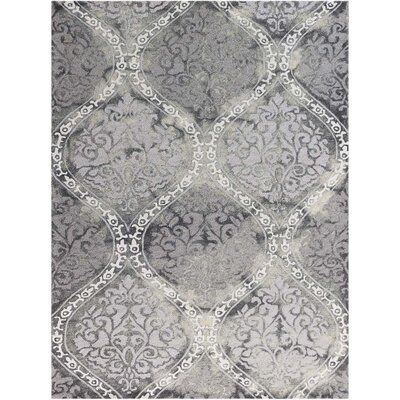 Pavilion Silk Hand-Tufted Gray Area Rug Rug Size: Rectangle 8 x 11