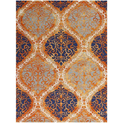 Kanoka Hand-Tufted Orange Area Rug Rug Size: 8 x 11