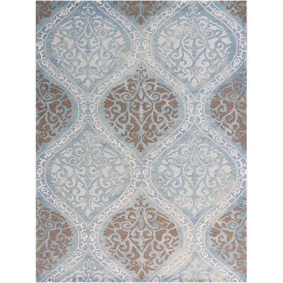 Pavilion Hand-Tufted Aqua Area Rug Rug Size: Rectangle 76 x 96