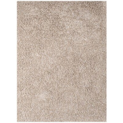 Bright Champagne Area Rug Rug Size: Rectangle 5 x 76