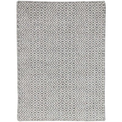 Lynnfield Hand-Tufted Silver Area Rug Rug Size: Rectangle 4 x 6