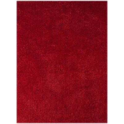 Illustrations Red Area Rug Rug Size: 5 x 76