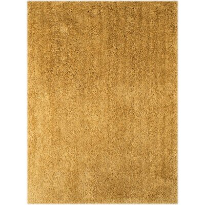 Illustrations Gold Area Rug Rug Size: 76 x 96
