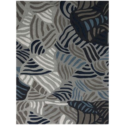 Piazza Gray Indoor/Outdoor Area Rug Rug Size: 76 x 96