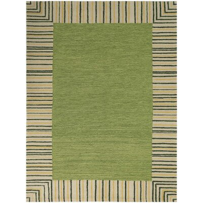 Oakham Olive Green Indoor/Outdoor Area Rug Rug Size: Rectangle 5 x 76