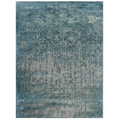 Brettany Hand-Knotted Gray Area Rug Rug Size: Rectangle 6 x 9
