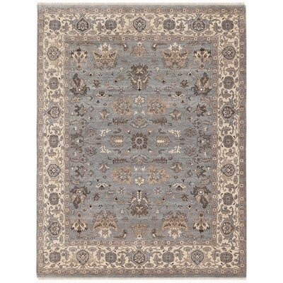 Grant Hand-Knotted Gray/Beige Area Rug Rug Size: 6 x 9