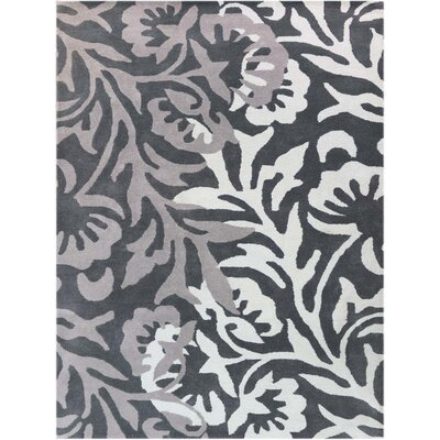 Bombay Hand-Tufted Black/Gray Area Rug Rug Size: 5 x 8