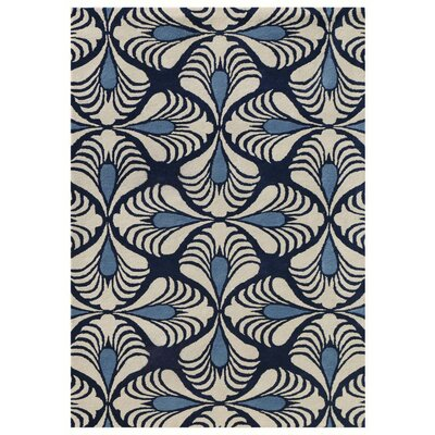 Weese Hand-Tufted Navy Area Rug Rug Size: Rectangle 36 x 56