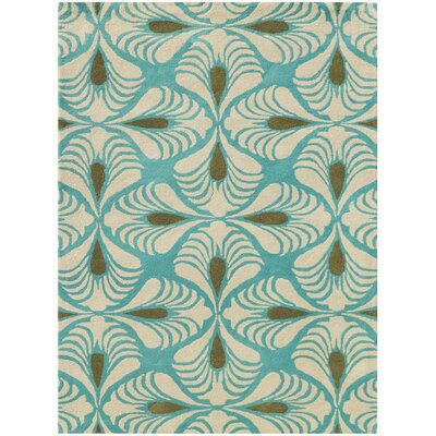 Weese Hand-Tufted Turquoise Area Rug Rug Size: Rectangle 36 x 56