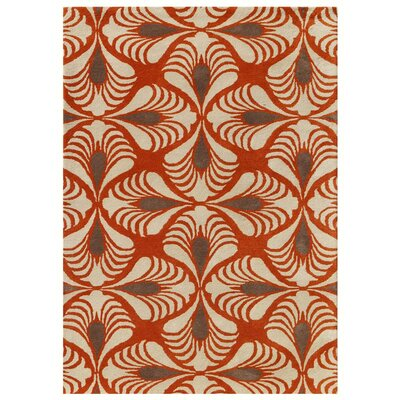 Weese Hand-Tufted Orange Area Rug Rug Size: Rectangle 76 x 96