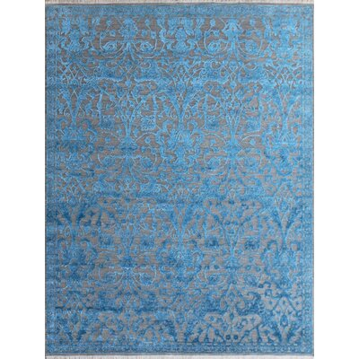Chipping Campden Modern & Contemporary Hand-Tufted Blue Area Rug Rug Size: Rectangle 6 x 9