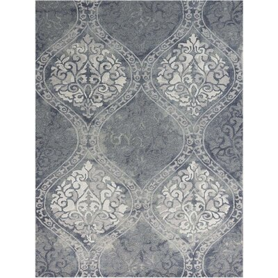 Pavilion Hand-Tufted Blue Area Rug Rug Size: Rectangle 76 x 96
