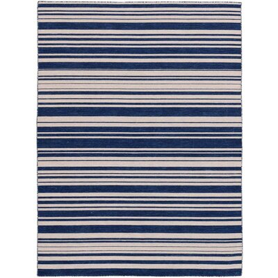 Cavanaugh Flat-Weave Navy Area Rug Rug Size: Rectangle 8 x 10