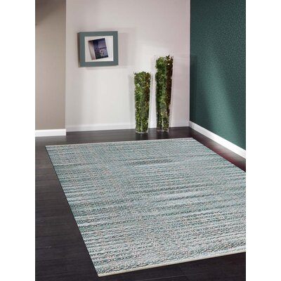 Bertrand Flat-Weave Aqua Area Rug Rug Size: Rectangle 5 x 8