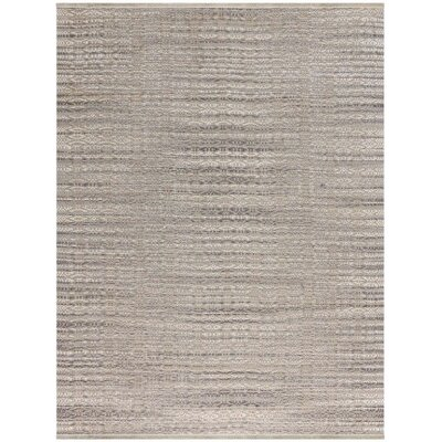 Bertrand Flat-Weave Gray Area Rug Rug Size: Rectangle 3 x 5