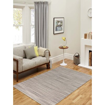 Bertrand Flat-Weave Gray Area Rug Rug Size: Rectangle 2 x 3