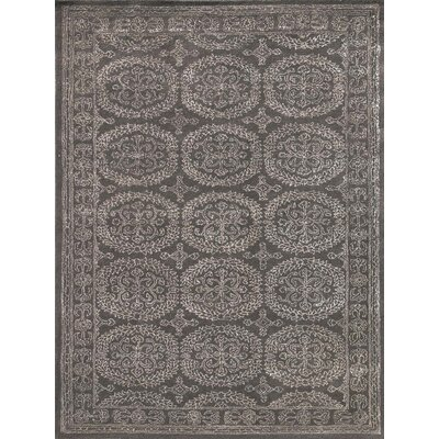 Zada Hand-Tufted Charcoal Area Rug Rug Size: Rectangle 76 x 96