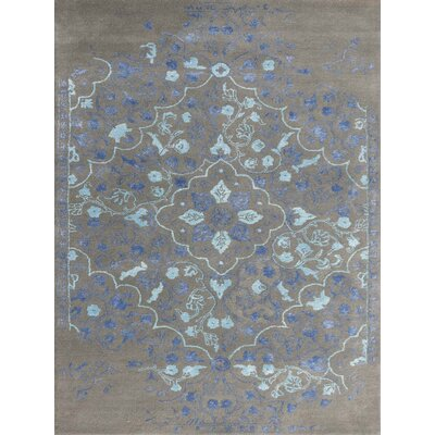 Hadassah Hand-Tufted Slate/Navy Area Rug Rug Size: Rectangle 5 x 8