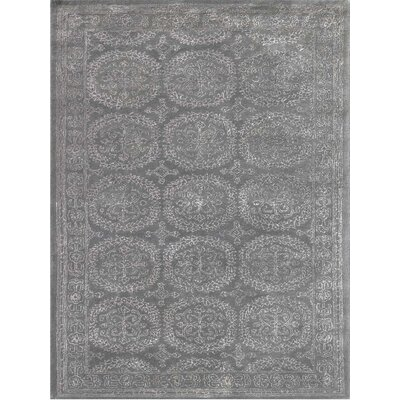 Zada Hand-Tufted Dove Gray Area Rug Rug Size: Rectangle 76 x 96