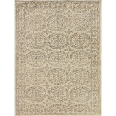 Zada Hand-Tufted White Ivory Area Rug Rug Size: Rectangle 5 x 8