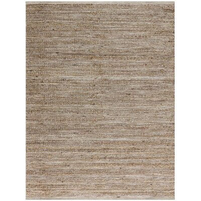 Lantz Flat-Weave Brown Area Rug Rug Size: Rectangle 8 x 10