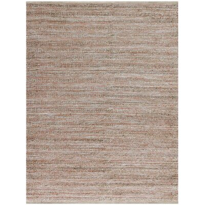 Lantz Rectangle Flat-Weave Brown Area Rug Rug Size: Rectangle 2 x 3