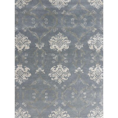 Zada Hand-Tufted Water Blue Area Rug Rug Size: Rectangle 76 x 96