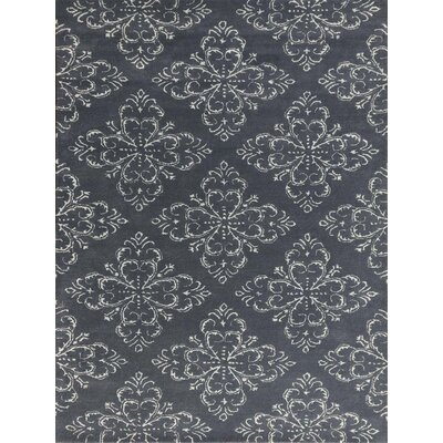 Zada Hand-Tufted Gray Stone Area Rug Rug Size: Rectangle 5 x 8