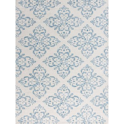 Zada Hand-Tufted Ocean Blue Area Rug Rug Size: Rectangle 76 x 96
