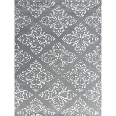 Zada Hand-Tufted Steel Blue Area Rug Rug Size: Rectangle 76 x 96