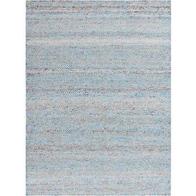 Amber Hand-Tufted Aqua Area Rug Size: 4 x 6