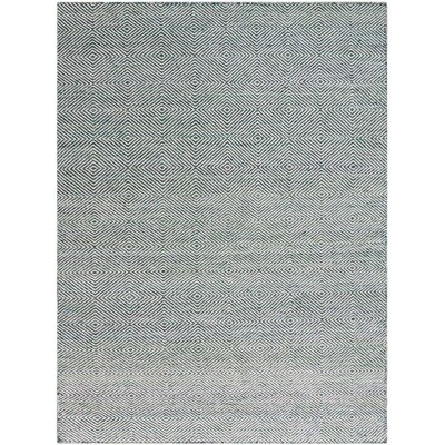 Amber Hand-Tufted Green Area Rug Rug Size: 4 x 6