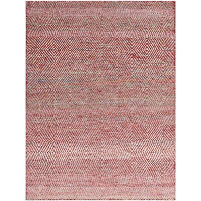 Onasander Hand-Tufted Red Area Rug Rug Size: Rectangle 4 x 6