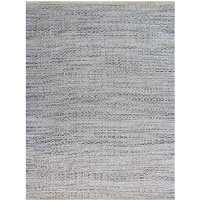 Bertrand Polo Flat-Weave Blue Area Rug Rug Size: 8 x 10