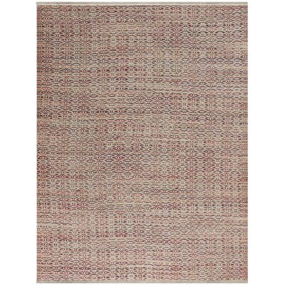 Bertrand Flat-Weave Rust Area Rug Rug Size: Rectangle 5 x 8