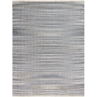 Bertrand Flat-Weave Sky Blue Area Rug Rug Size: Rectangle 2 x 3