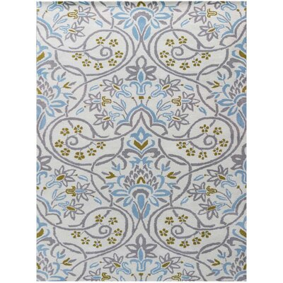 Jaylene Hand-Tufted Ivory Area Rug Rug Size: Rectangle 5 x 8