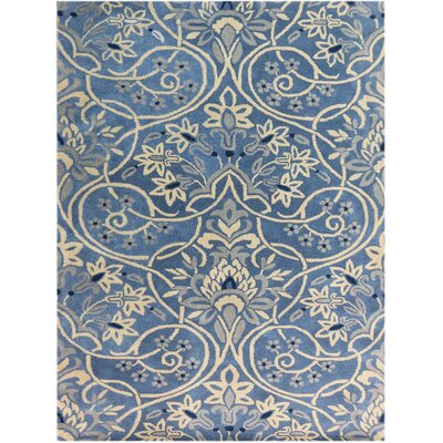Jaylene Hand-Tufted Blue Area Rug Rug Size: Rectangle 36 x 56